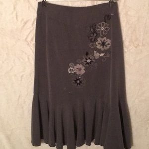 NWOT Sunny Leigh mermaid tail embroidered skirt